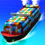 Sea Port Cargo Ship Town Build Tycoon Strategy 1.0.133 MOD Unlimted Money