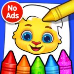 Coloring Games Coloring Book Painting Glow Draw MOD Unlimted Money
