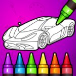 Learn Coloring Drawing Car Games for Kids 7.0 MOD Unlimted Money