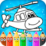 Coloring pages for children transport MOD Unlimted Money