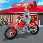 Scary Clown Boy Pizza Bike Delivery MOD Unlimted Money